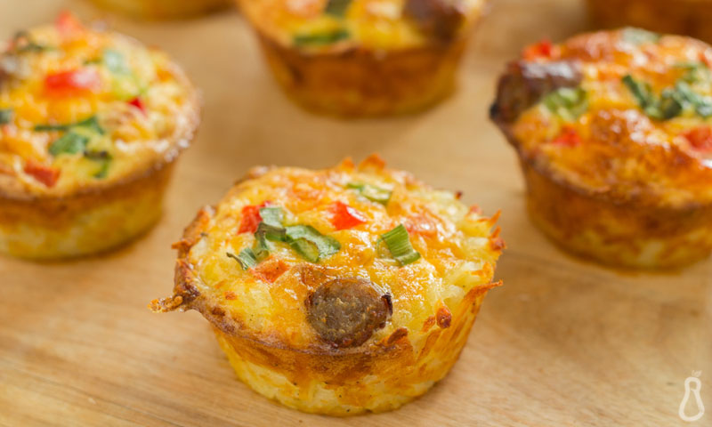 Crustless Mini Quiches [Paleo] [Vegetarian]