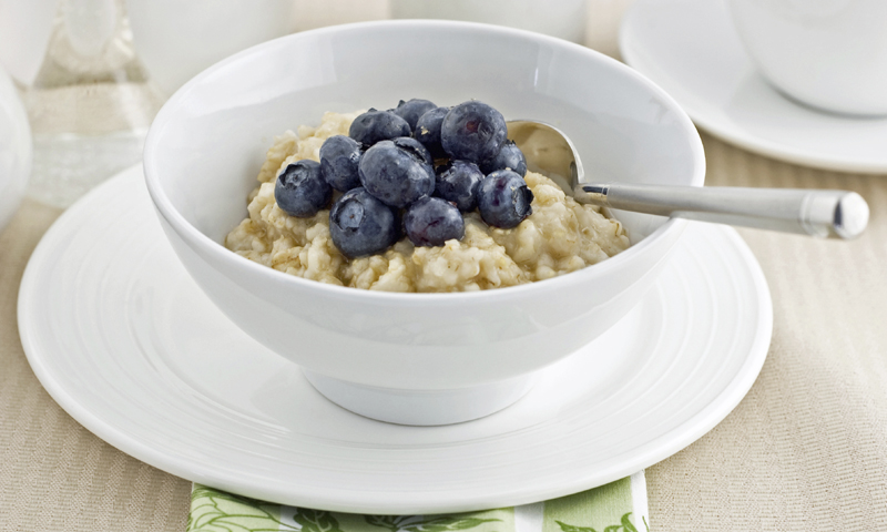 Blueberry Coconut Rice Porridge